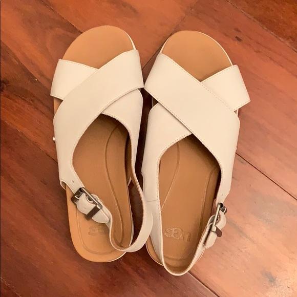 39b3c5e9539 NWOT UGG Kamile sandals in white